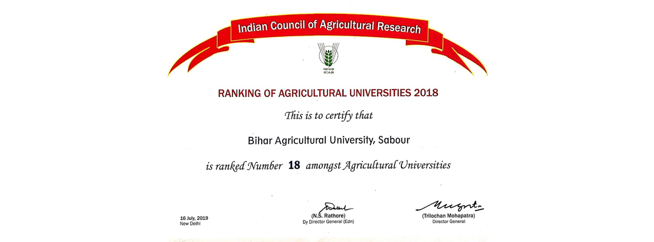 Welcome To Bihar Agriculture University